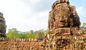 Bayon Temple Face