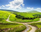 stock photo of cross hill  - composite landscape - JPG