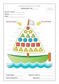 Worksheet: Identify & Count Basic Shapes