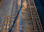 Railroad background.