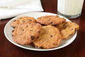 Homemade Cookies And Milk