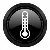 thermometer black icon temperature sign