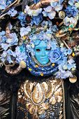 Mask With Flowers At The Carnival Of Venice