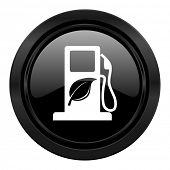 biofuel black icon bio fuel sign
