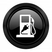 fuel black icon hybrid fuel sign