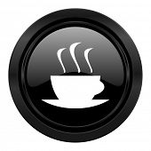 espresso black icon hot cup of caffee sign