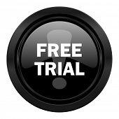 free trial black icon