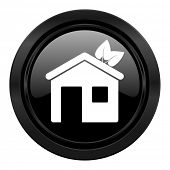 house black icon ecological home symbol