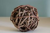 Brown Wicker Ball