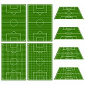 Football Fields Vertical And Horizontal Patterns
