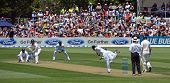 Sri Lankan Spinner Tharindu Kaushal Bowls To New Zealand Batsman.