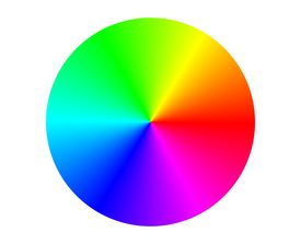 foto of color wheel  - Illustration of a RGB color circle - JPG