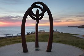 image of tribute  - Memorial to the victims of the Bali bombing Coogee Beachh at sunrise - JPG