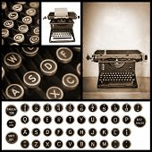 picture of qwerty  - Vintage typewriter image collection - JPG