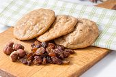 stock photo of baked raisin cookies  - Gluten - JPG