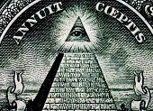 image of isosceles  - us one dollar bill truncated pyramid closeup - JPG