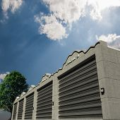 picture of self-storage  - Illustration of a modern storage concrete units - JPG
