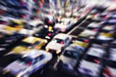 stock photo of cabs  - Car Parking Taxi cab moving Blurred Abstract Background - JPG