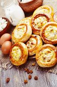 stock photo of patty-cake  - Patties with cottage cheese and raisins - JPG