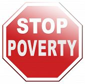 stock photo of poverty  - stop poverty give and donate to charity - JPG