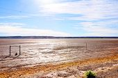 pic of south-pole  - Bright Sunlight Reflecting on Dry Mud of Koopan - JPG