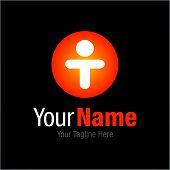 image of letter t  - Gold T letter man inspirational leader graphic design logo icon - JPG