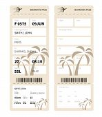 pic of boarding pass  - Airline boarding pass ticket for traveling by plane - JPG