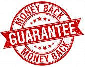 picture of red back  - money back guarantee grunge retro red isolated ribbon stamp - JPG