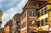 foto of timber  - Traditional timbered houses in Ribeauville  - JPG