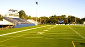 foto of football field  - this is an empty small college football stadium - JPG