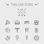 picture of kettles  - Food thin line icon set for web and mobile - JPG