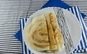 foto of crepes  - Dosa is a fermented crepe made from rice batter  - JPG