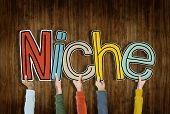 stock photo of niche  - Niche Business Marketing Specific Conceptual Commerce Segregated Concept - JPG