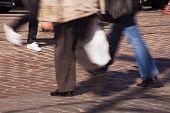������, ������: Feet Of Pedestrians In A Crosswalk