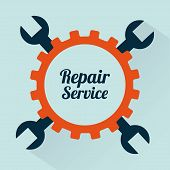 pic of rectifier  - repair service over green background vector illustration - JPG
