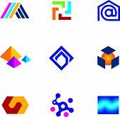 picture of swastika  - New technology innovative company app logo future network icon set - JPG