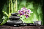 stock photo of zen  - spa concept zen basalt stones  - JPG