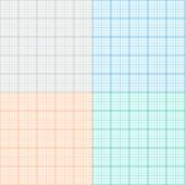 pic of graph paper  - A set of graph paper in four colors - JPG