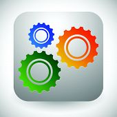 pic of rework  - Gears cogwheels icon graphics for maintenance repair manufacturing and development concepts - JPG