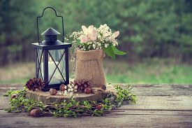 picture of wedding  - Wedding still life in rustic style - JPG