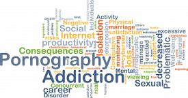 foto of pornography  - Background concept wordcloud illustration of pornography addiction - JPG