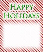 Happy  Holidays Candy Cane Background