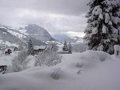 Snowscape In Emmetten, Switzerland
