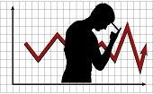 Man pondering the behavior of market
