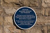 A Plaque Giving Details Of The Opening Of The Refurbished Fan Window At Buxton Station