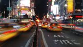 Taxi Mayhem In Times Square