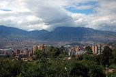 picture of medellin  - Panoramic of Medellin Colombia taken from a mountain - JPG