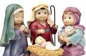 Bethlehem, adoration of the Child Jesus