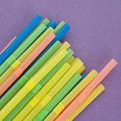 Fun Straws On A Vibrant Background