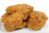 Deep Fried Fast Food, Spring Chicken In Golden Lemon Batter